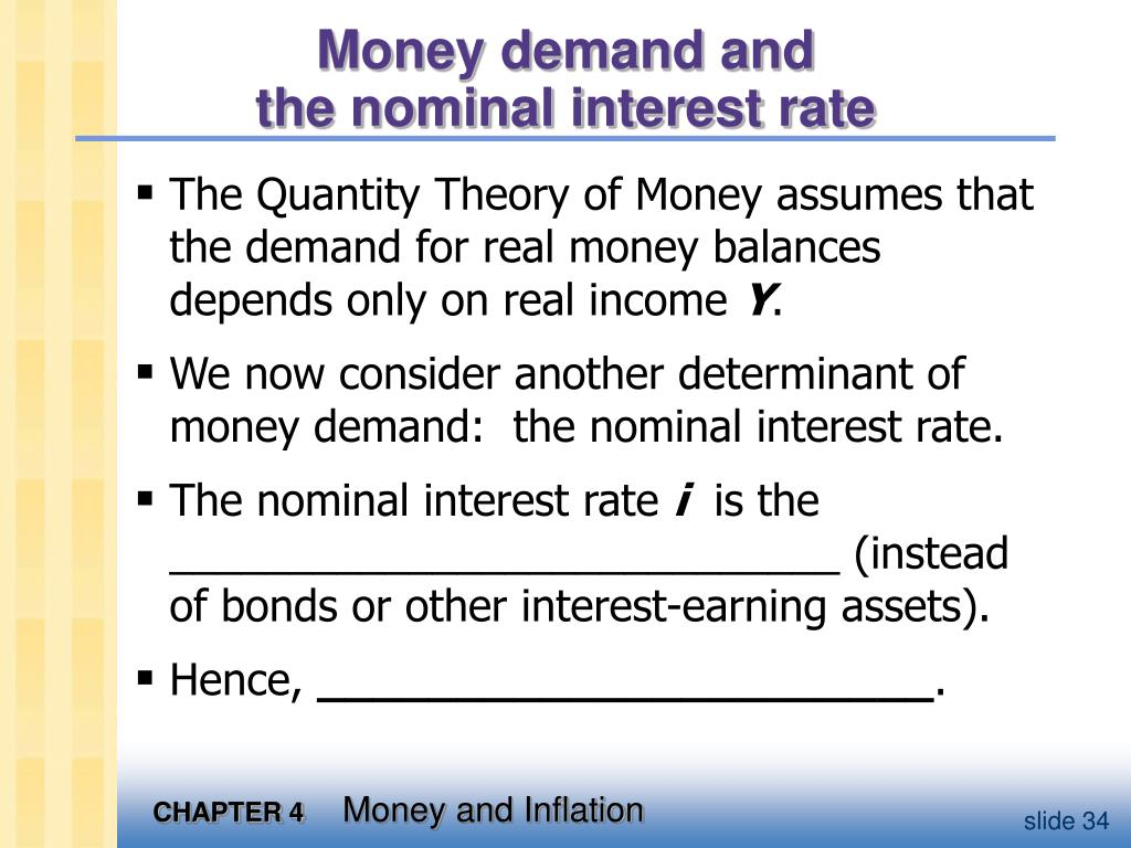Money demand and