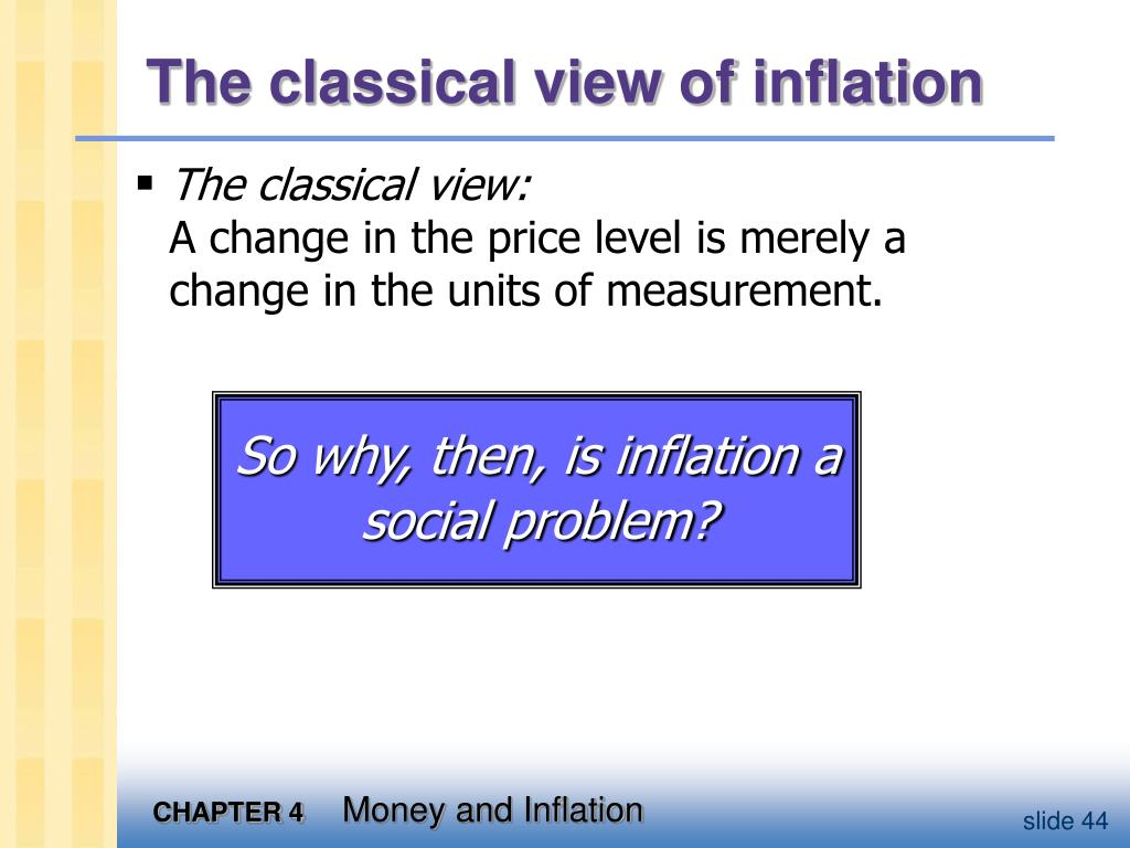 The classical view of inflation