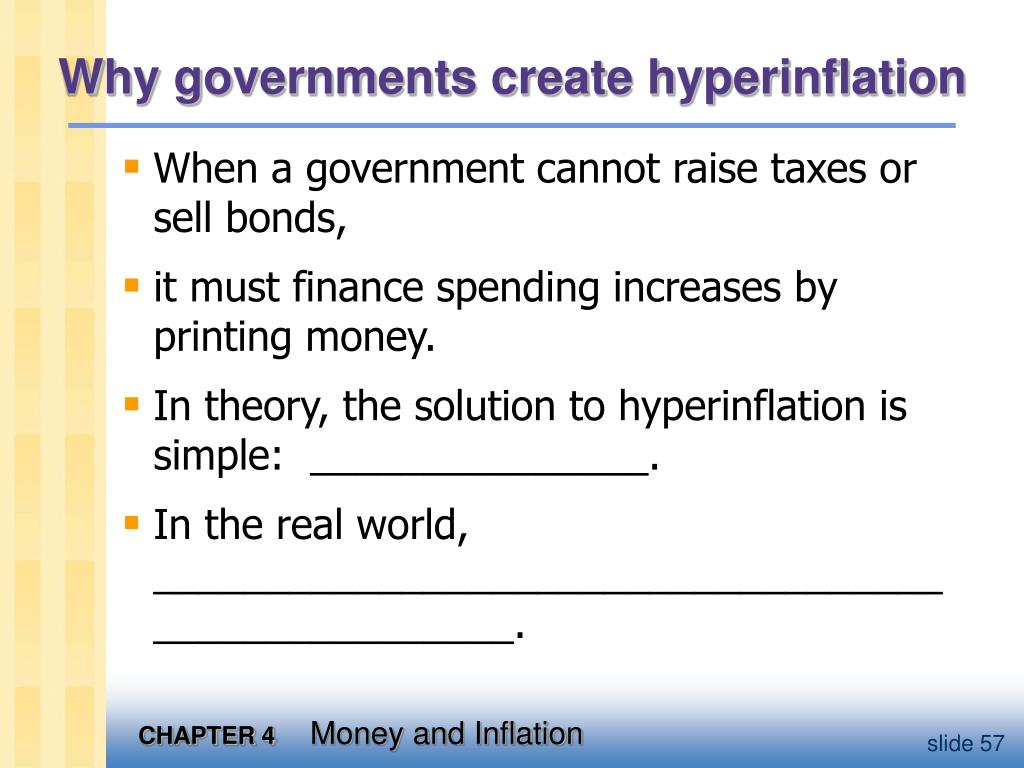 Why governments create hyperinflation