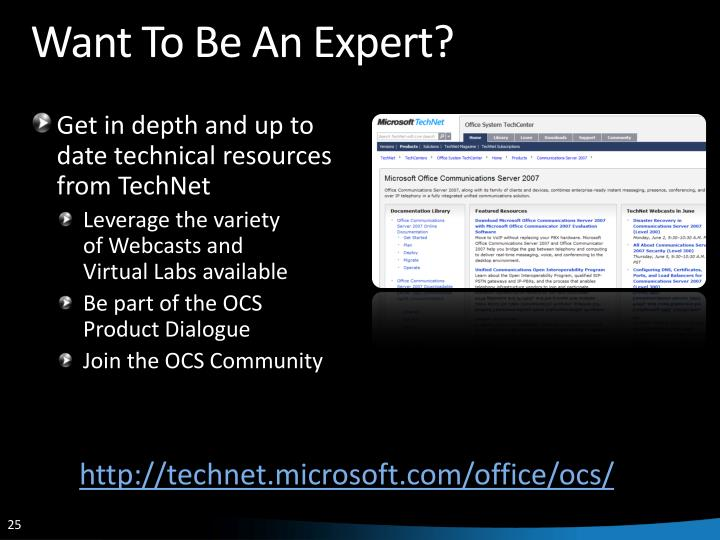 Want To Be An Expert?