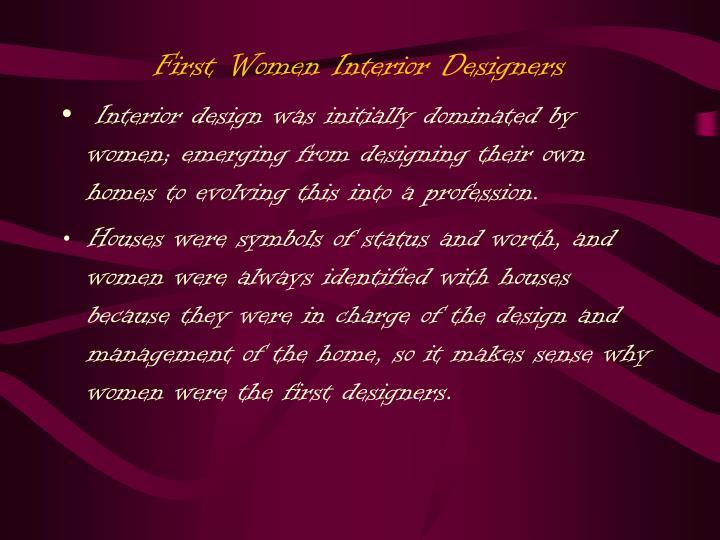 First Women Interior Designers