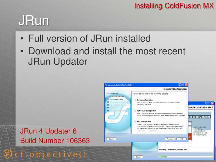 Installing ColdFusion MX