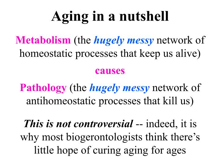 Aging in a nutshell
