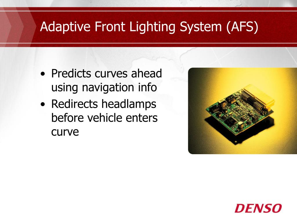 Adaptive Front Lighting System (AFS)