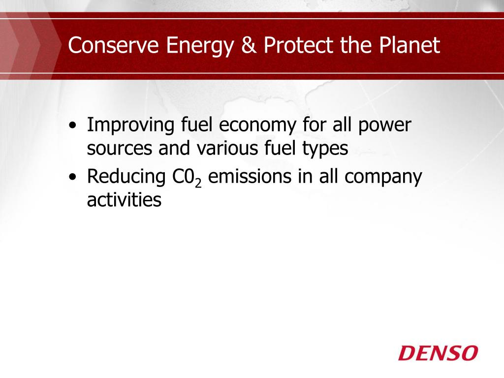 Conserve Energy & Protect the Planet