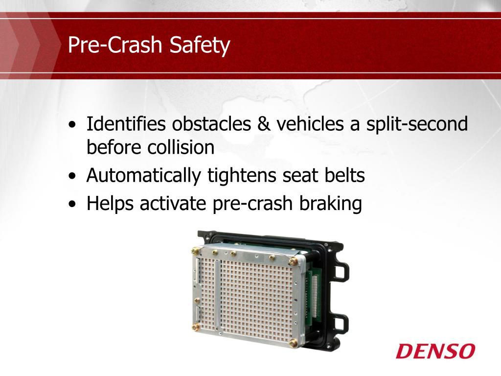 Pre-Crash Safety