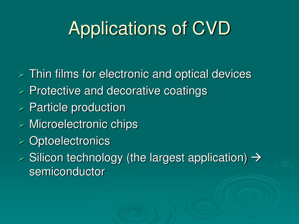 Applications of CVD