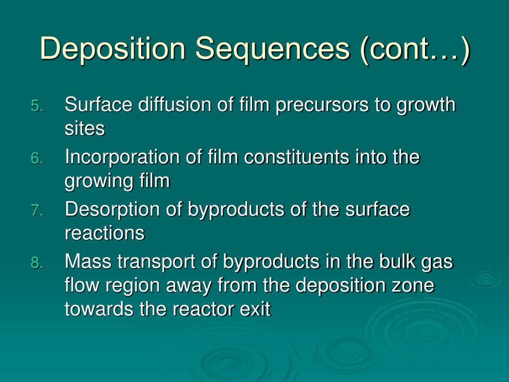 Deposition Sequences (cont…)