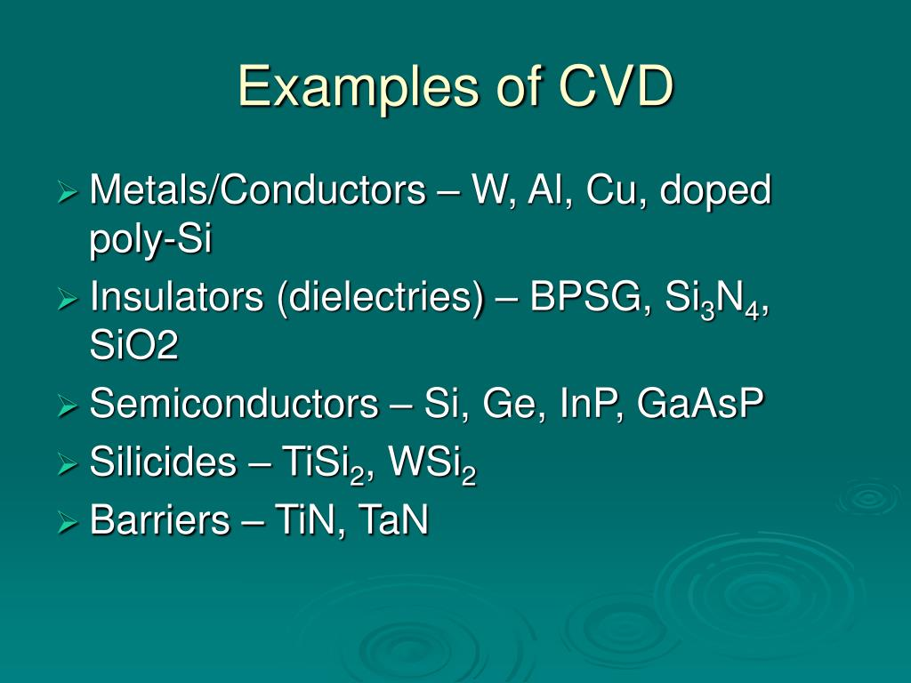 Examples of CVD