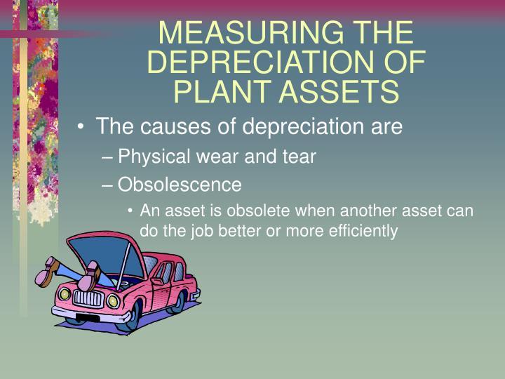 MEASURING THE DEPRECIATION OF
