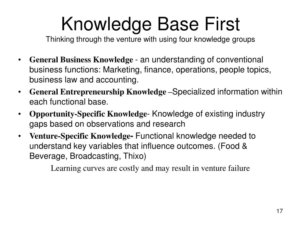 Knowledge Base First