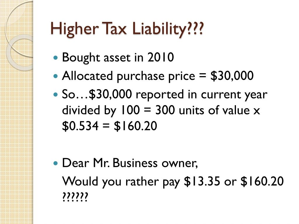 Higher Tax Liability???