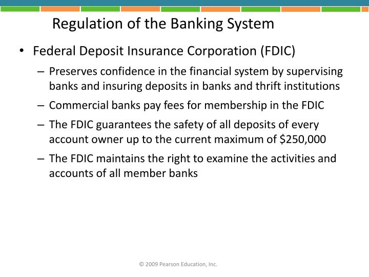 Regulation of the Banking System