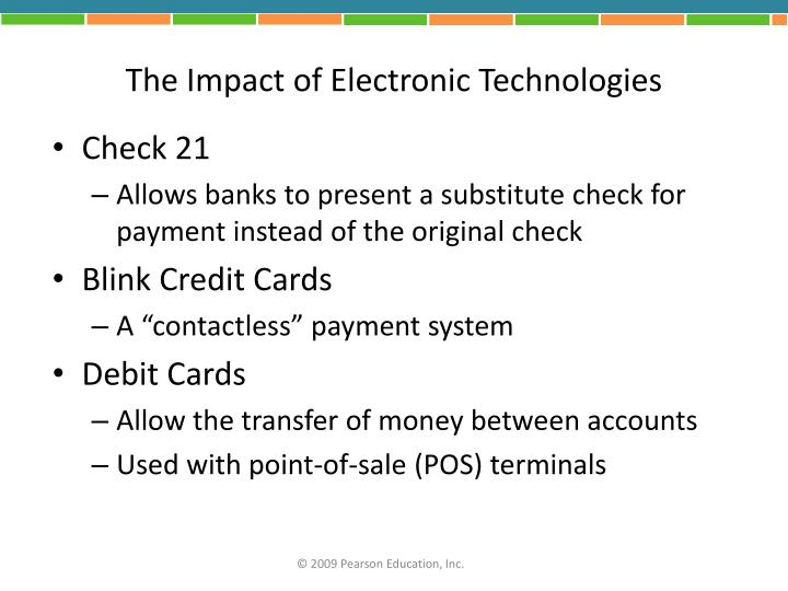 The Impact of Electronic Technologies