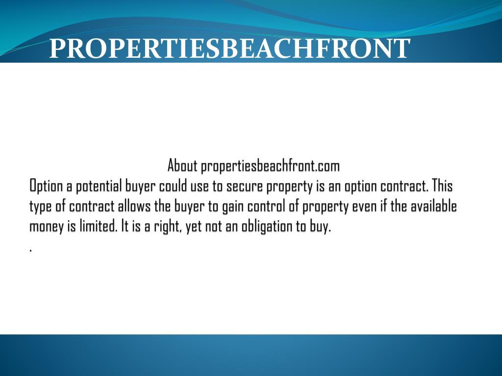About propertiesbeachfront.com