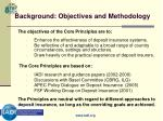 background objectives and methodology