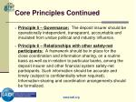 core principles continued10