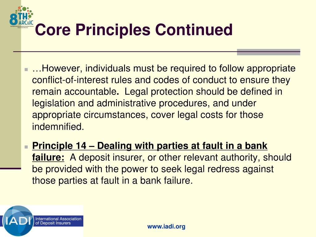 Core Principles Continued