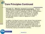 core principles continued18