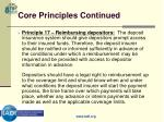 core principles continued19