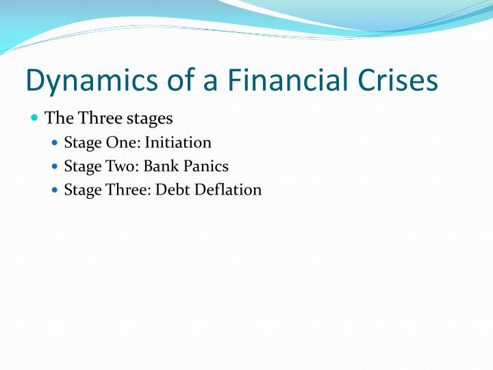 Dynamics of a Financial Crises