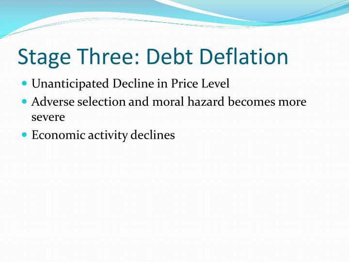 Stage Three: Debt Deflation