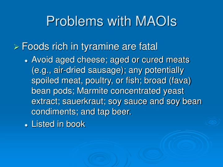 Problems with MAOIs