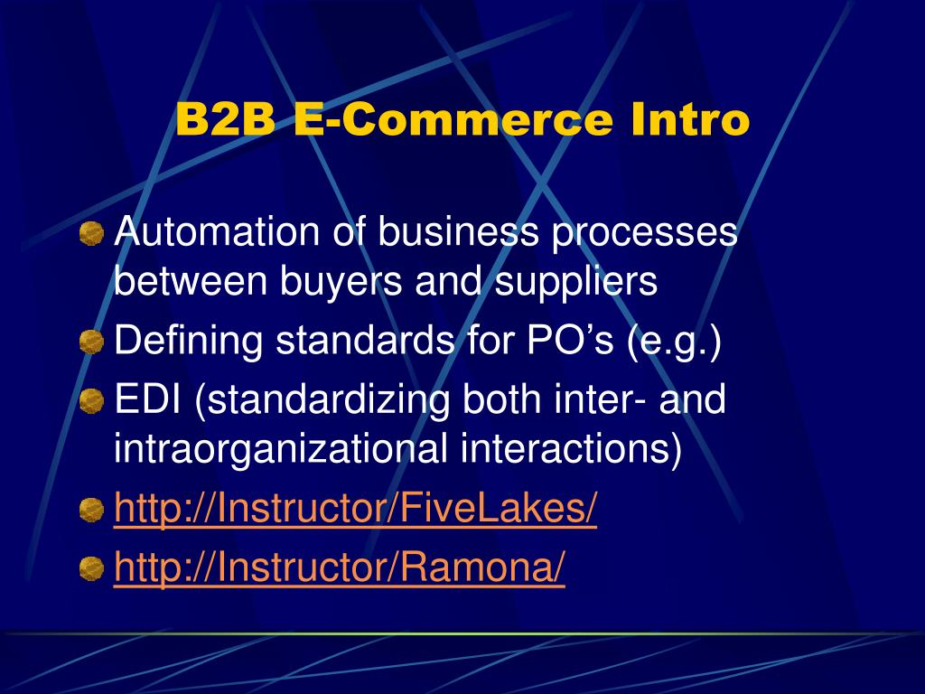 B2B E-Commerce Intro