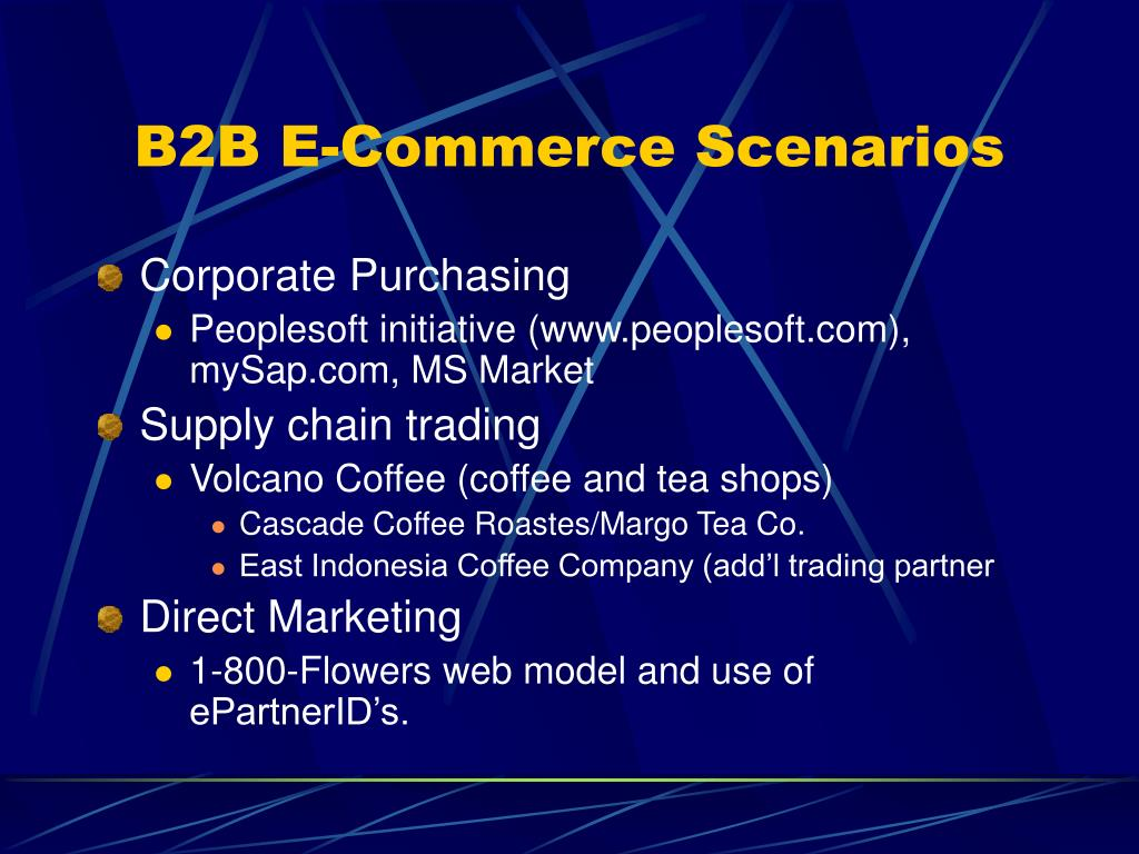 B2B E-Commerce Scenarios