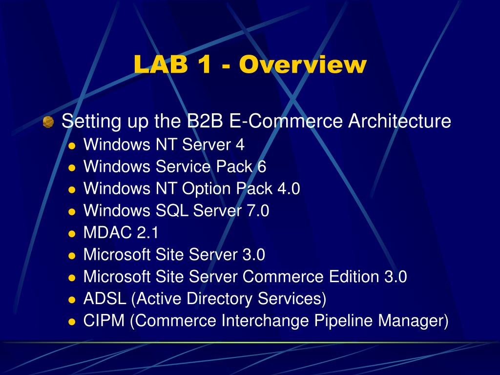 LAB 1 - Overview