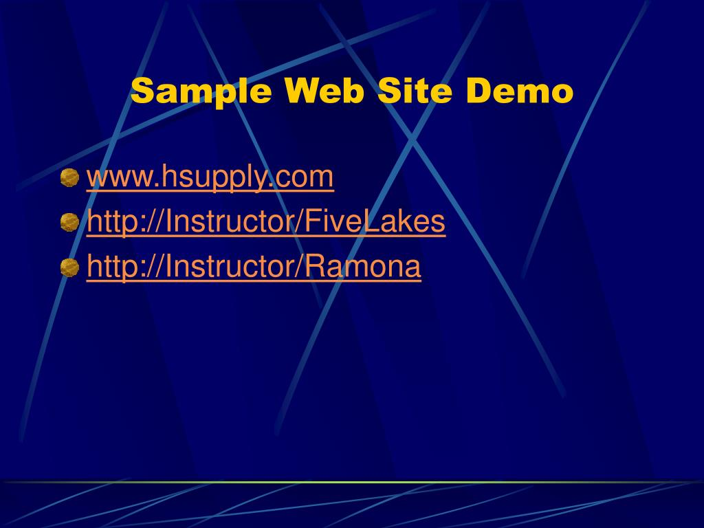 Sample Web Site Demo