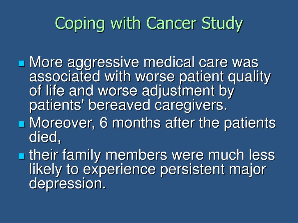 Coping with Cancer Study