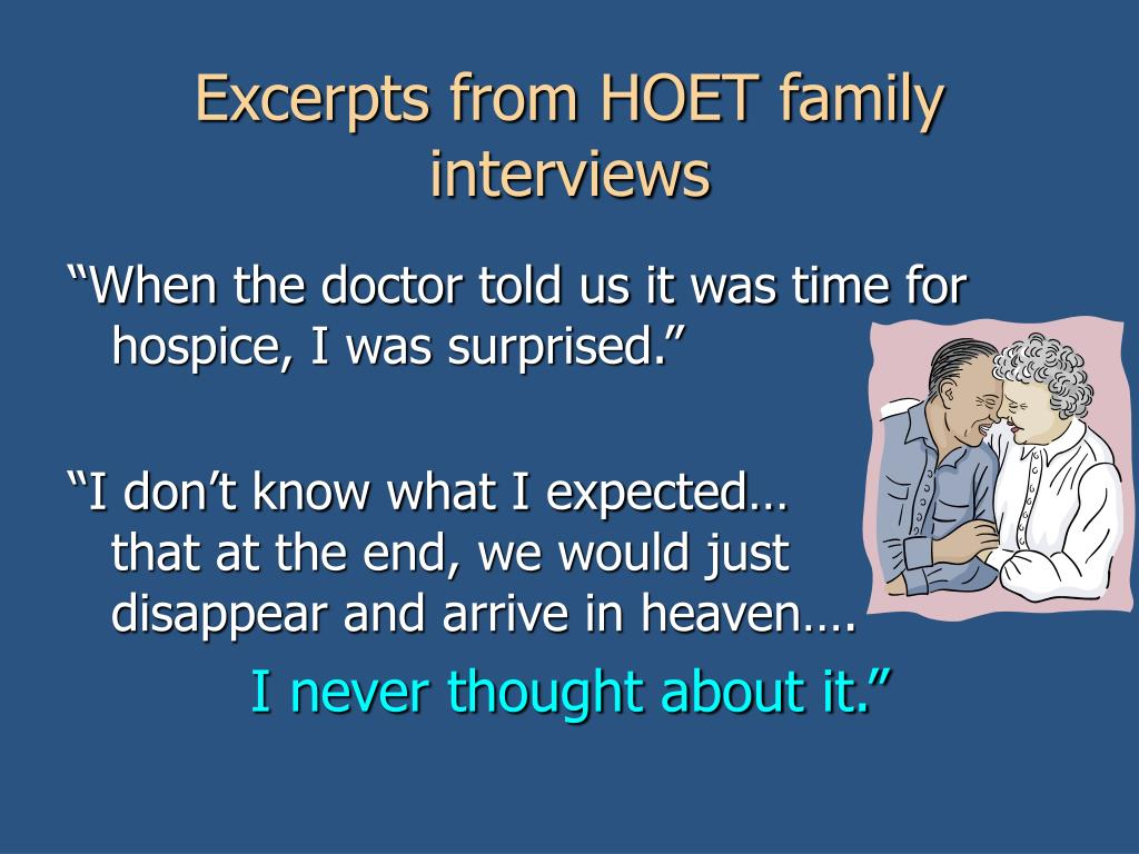 Excerpts from HOET family interviews