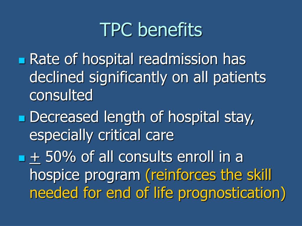 TPC benefits