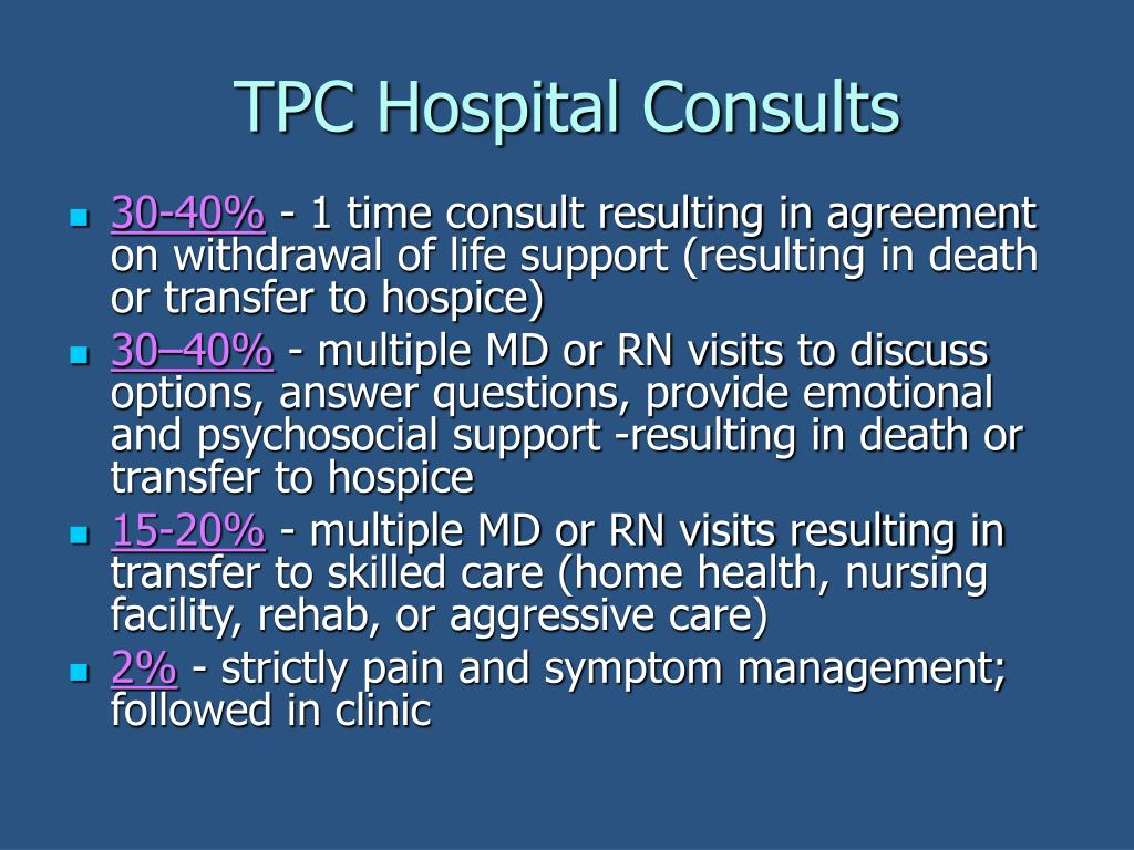 TPC Hospital Consults