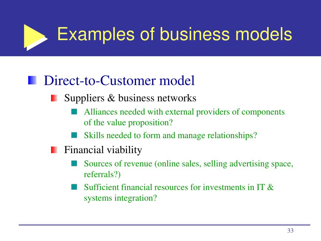 Examples of business models