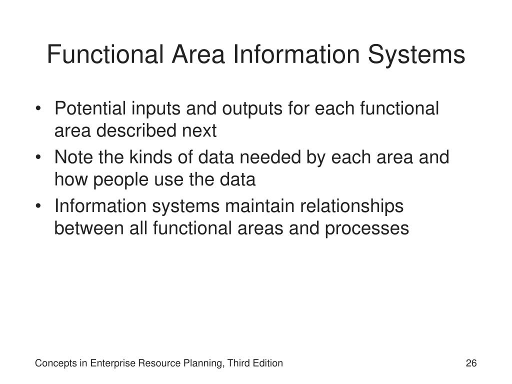 Functional Area Information Systems