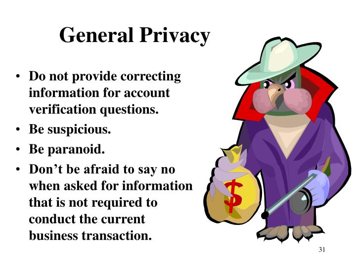 General Privacy