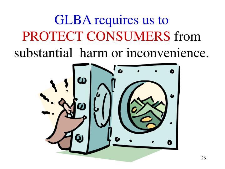 GLBA requires us