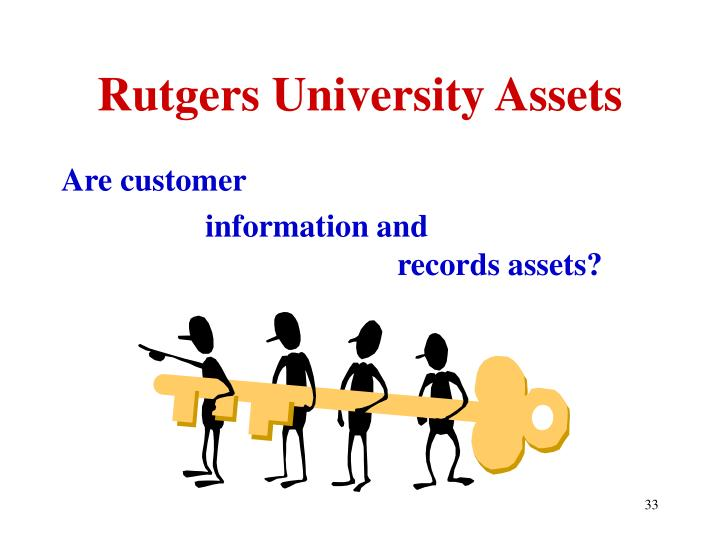 Rutgers University Assets