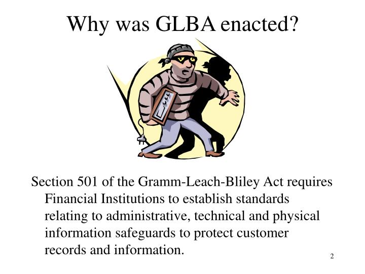 Why was GLBA enacted?