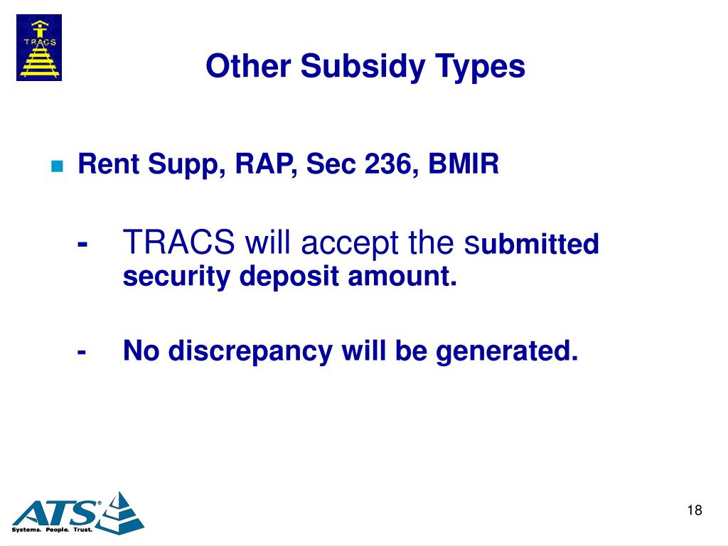 Other Subsidy Types
