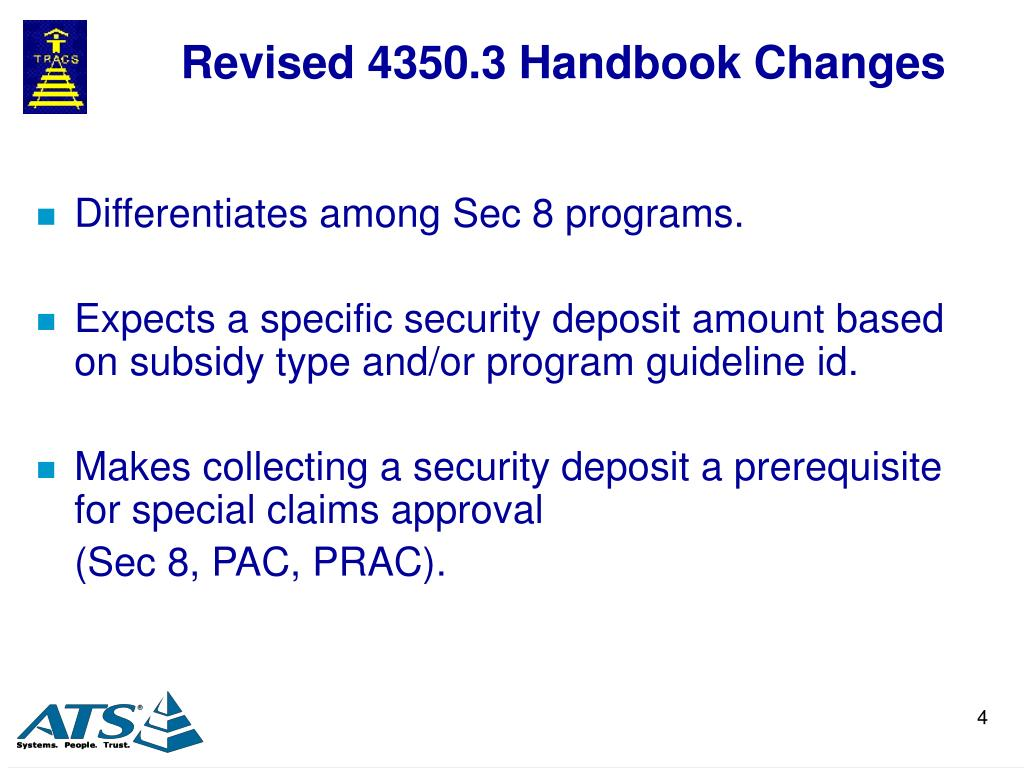 Revised 4350.3 Handbook Changes