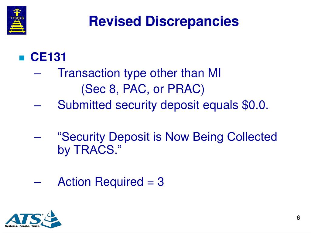 Revised Discrepancies