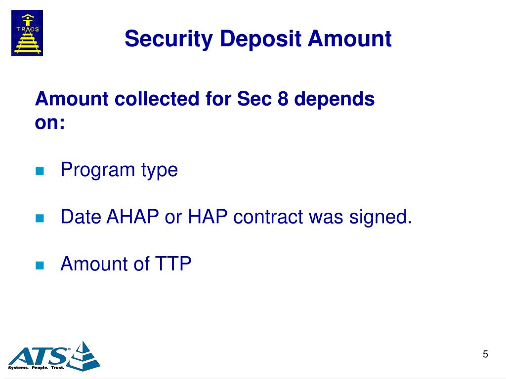 Security Deposit Amount