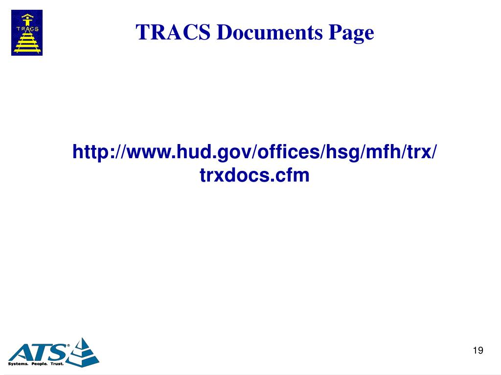 TRACS Documents Page