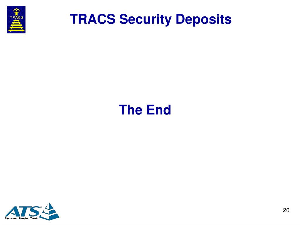 TRACS Security Deposits