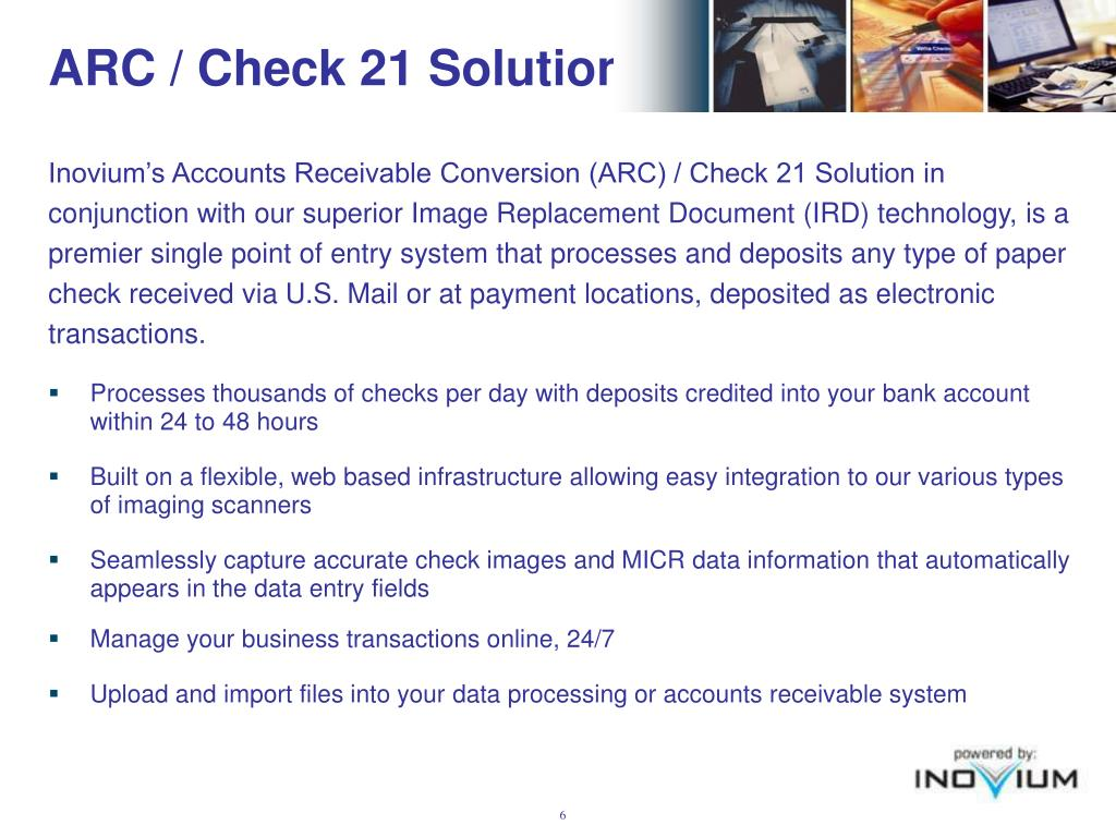 ARC / Check 21 Solution