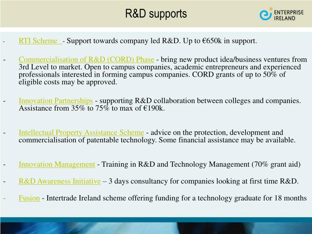 R&D supports