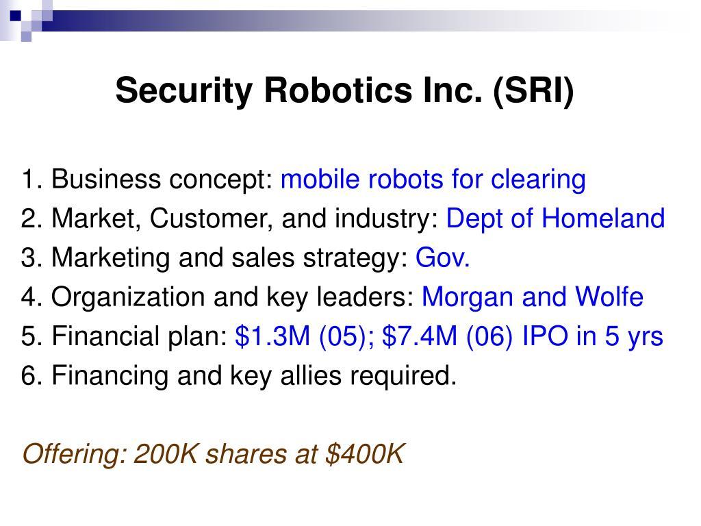 Security Robotics Inc. (SRI)